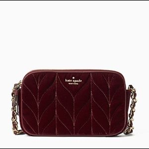 KATE SPADE Briar Lane Quilted Velvet Kendall purse